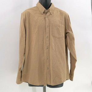 Eddie Bauer mens field flannel shirt relaxed fit L